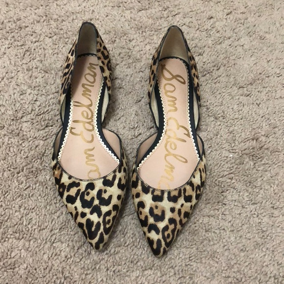 aaabe3172 Sam Edelman Shoes - Sam Edelman's Rodney d'Orsay flats - leopard print